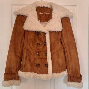 Steve Madden Suede & Faux Fur Jacket